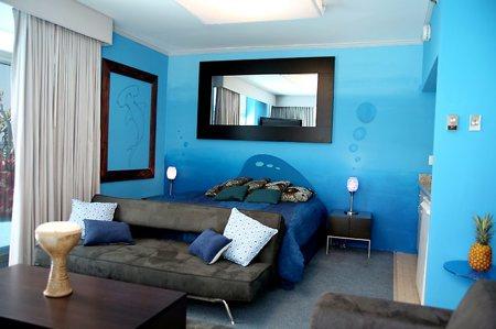 D corer la chambre d 39 une fille avec oc an toiles et lune - Etoiles fluorescentes plafond chambre ...