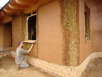 Comment construire une maison en balle de paille - Construire une maison en terre ...
