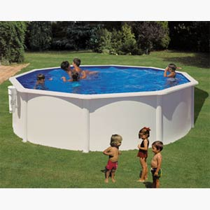 piscine hors sol en pvc et en acier galvanis. Black Bedroom Furniture Sets. Home Design Ideas