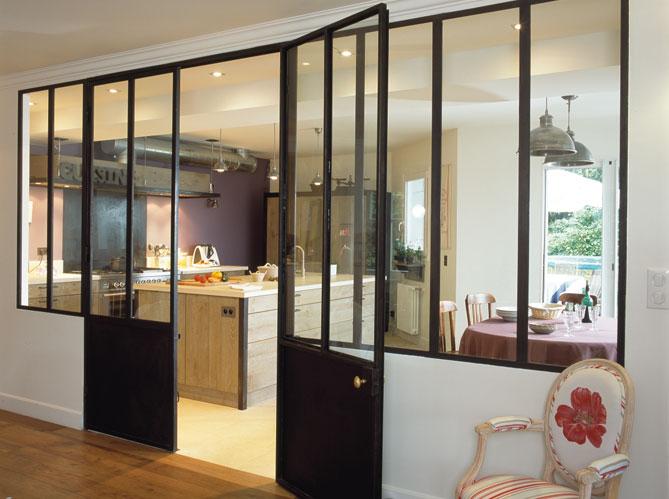 Isolation et doublage des vitres - Vitre separation cuisine ...