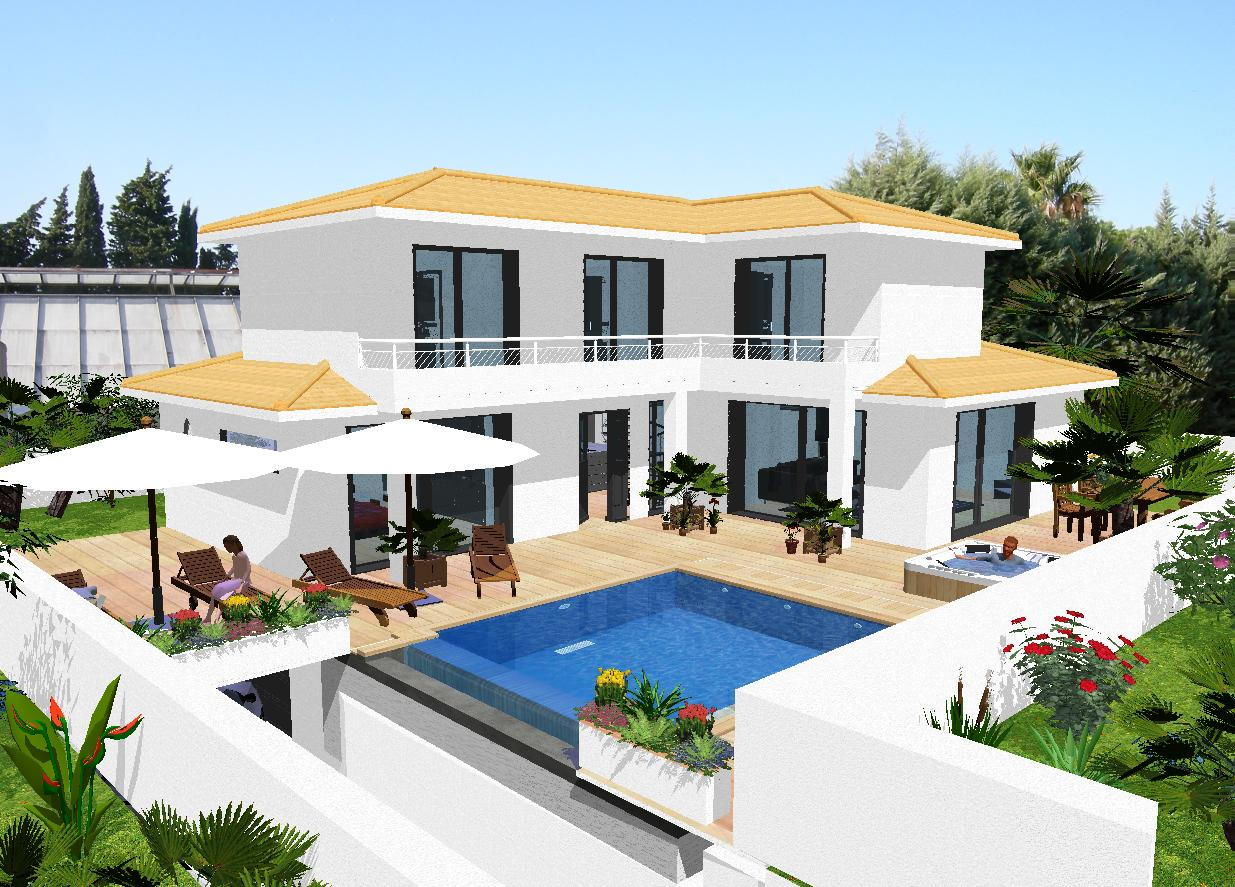 Style de maison contemporaine for Modele de villa